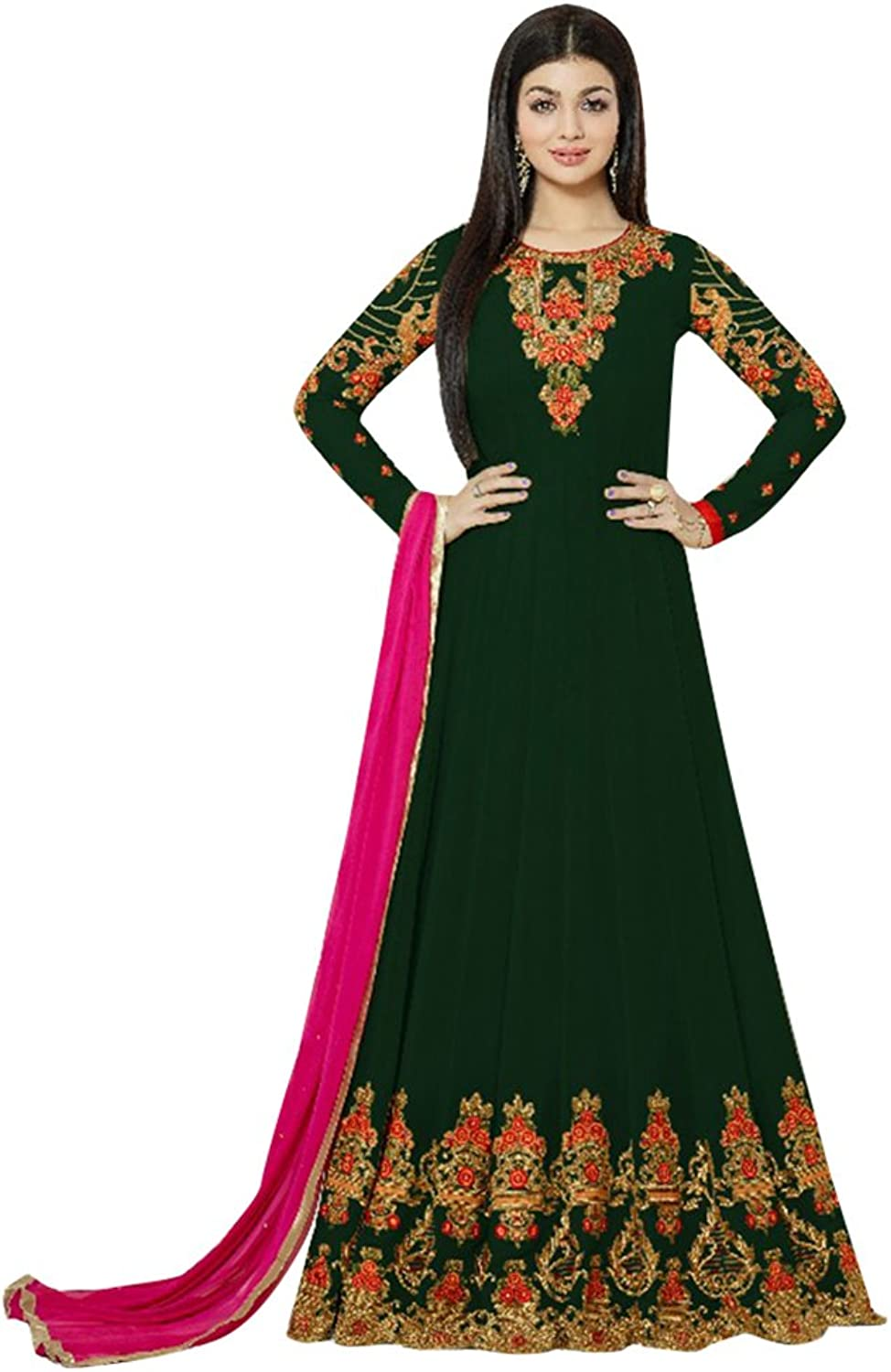 Punjabi Bollywood Anarkali Dresses for women Salwar Kameez Ceremony Wedding 758 1