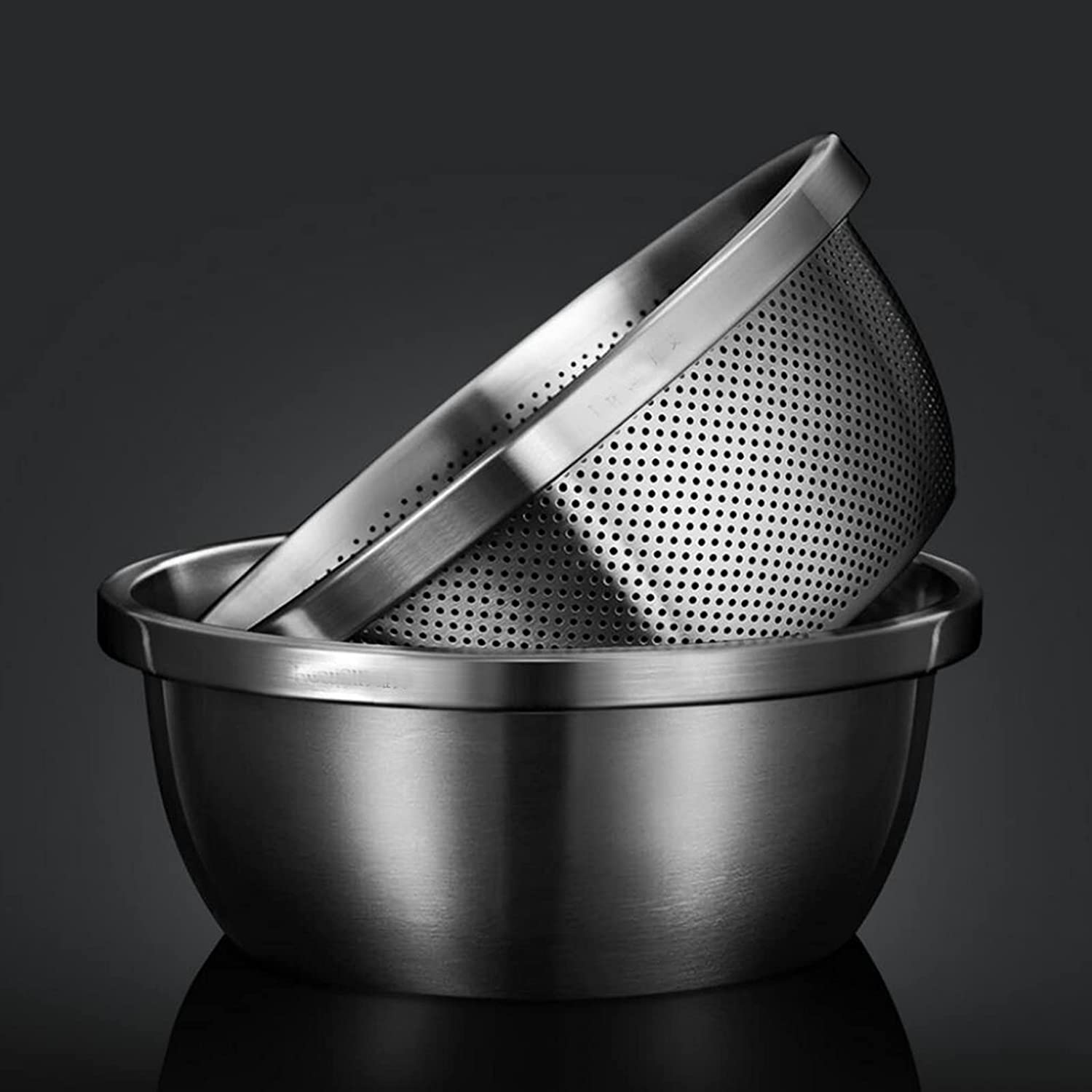Cajolg 2 Pieces Sacramento Mall Colander Strainer Container Jacksonville Mall Stainless with Steel