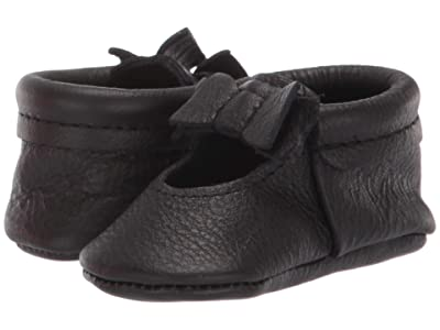 Freshly Picked Ebony Ballet Flat Bow Mocc (Infant/Toddler) (Black) Girl
