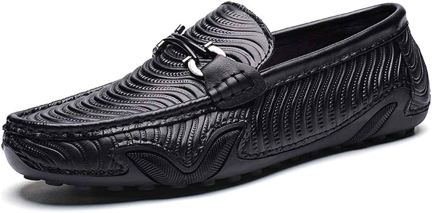 Easy Go Shopping Driving Loafer for Men Boat Moccasins Slip On Style OX Leather Fashion Octopus Texture Metaldecor Cricket shoes