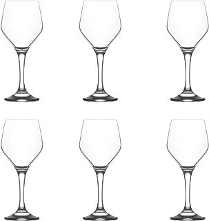 LAV Ella Small Wine Glasses, 260ml - Set of 6 Stemware Goblets