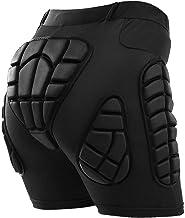 TOMSHOO Pantalones Cortos Acolchados, con 3D protección para Cadera, Resistencia al Impacto y Transpirable, para Patinar y Esquí y Snowboard, Traje para Hombre, Mujer y niños