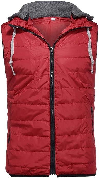 Fashion Hooded Waistcoat Vest Men Autum Winter Solid Padded Outwear Vest Jacket Tops Blouse Beautyfine