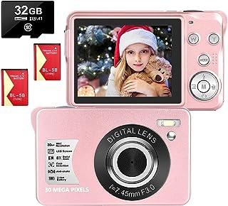 Cámara Digital Camara de Fotos 2.7 Pulgadas 1080P 30 megapíxeles HD Camara Fotos Recargable Cámara para de Bolsillo Cámara...