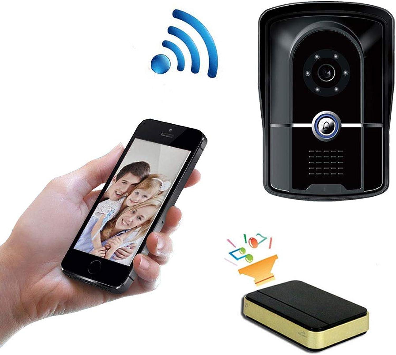 LMtt Smart wireless WiFi doorbell, Video Doorbell Kit, color Monitors and Surface Mounted HD Camera Video Doorphone, Waterproof and Intercom