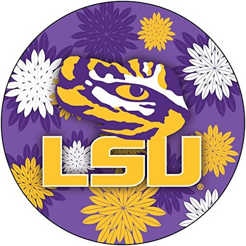 R and Imports LSU Ultra-Cheap Deals Tigers Brand new Floral Magnet Inch Round 4