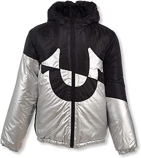 True Religion Metallic Hooded Insulated Flight Jacket