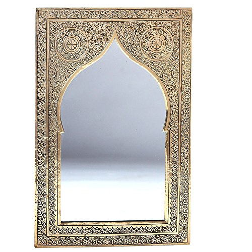 albena Marokko Galerie 23-100 Casa orientalischer Spiegel 41 x 27 cm (Gold, Messing)