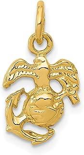 14k Yellow Gold U.S. Marine Corps Emblem Charm 16x9mm