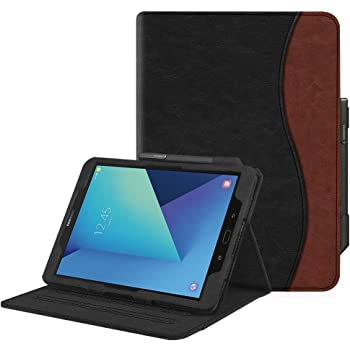 Heavy Duty Ultra Slim Case Leather Cover with Kickstand Full Protection Shell Galaxy Tab S3 9.7 Folding Case Auto Sleep//Wake for Samsung Galaxy Tab S3 9.7 inch T820//T825 Table pink