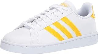 adidas Originals Grand Court White/Bold Gold/White 7 B (M)
