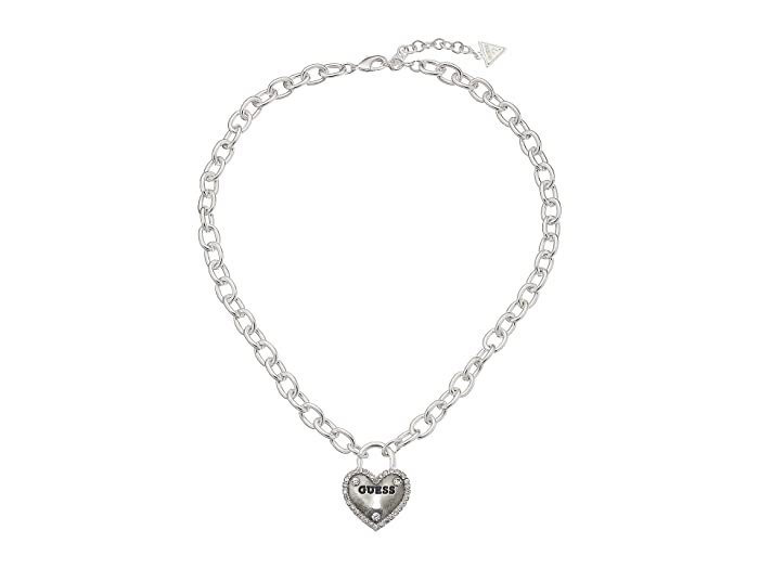 Guess Framed Heart Necklace