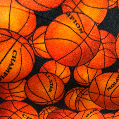 """Licensed All Star Champion Basketball Anti Pill Sports Theme Fleece Fabric, 60"""" Inches Wide – Sold By The Yard (FB)"""