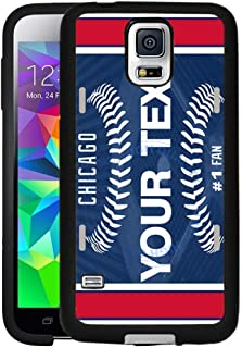 BRGiftShop Personalize Your Own Baseball Team Chicago Blue Rubber Phone Case For Samsung Galaxy S5