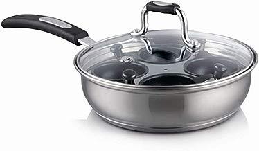 Simpa Gourmet - Escalfador de huevos de acero inoxidable (20 cm, apto para todas las cocinas, apto para horno y lavavajillas)