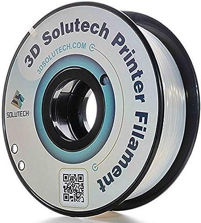 3D Solutech Natural Clear 1.75mm 3D Printer PLA Filament, Dimensional Accuracy +/- 0.03 mm, 2.2 LBS (1.0KG)