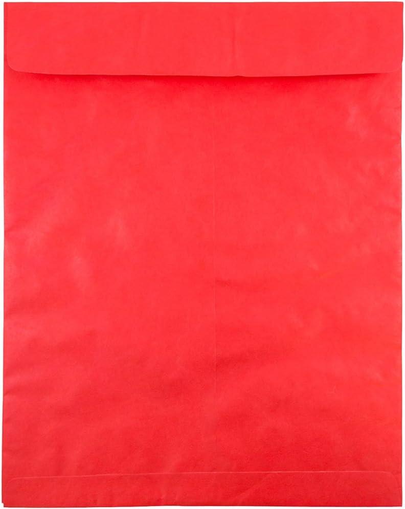 JAM PAPER Tyvek Tear-Proof Open End Catalog Envelopes - 11 1/2 x
