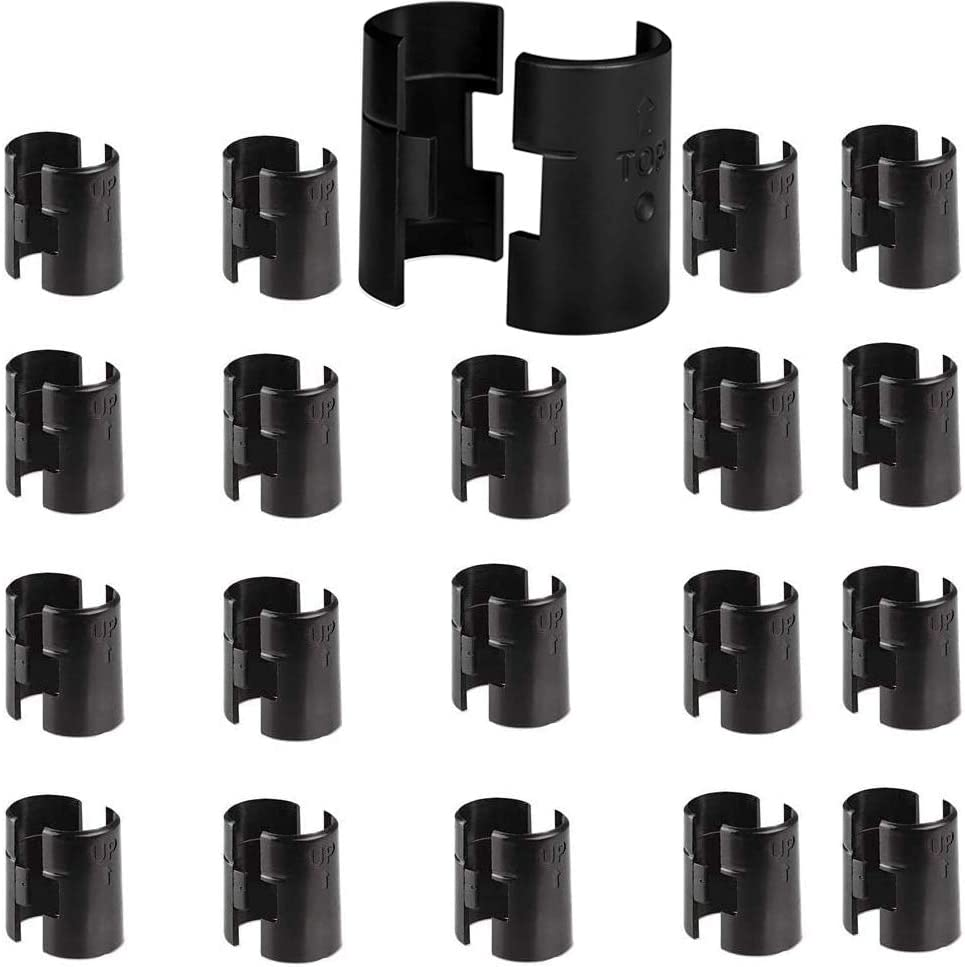 """Wire Shelf Clips, Wire Shelving Shelf Lock Clips 20 Pairs 40 Pieces for 1"""" Post,Shelving Sleeves, Fits with Thunder Group, Alera, Honey Can Do, Eagle, Regency, Metro: Home Improvement"""