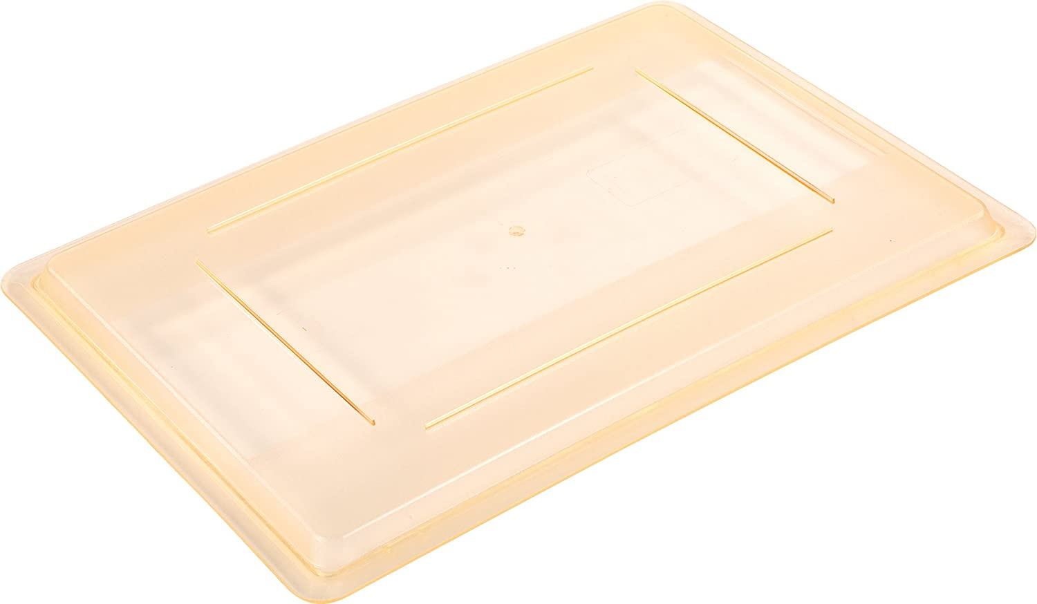 Carlisle 10627C22 StorPlus color-Coded Food Box Storage Container Lid Only, 26  x 18 , Yellow (Pack of 6)