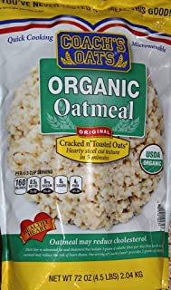 Coach's Oats100% Whole Grain Organic Oatmeal, 4.5 lbs (72 oz)