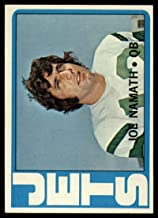 Football NFL 1972 Topps #100 Joe Namath VG Very Good NY Jets