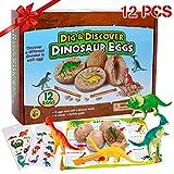 12 Stück Dinosaurier Eier Party Supplies Spielzeug, Dino Eier Dig Kit, Dino Eier Ausgraben...