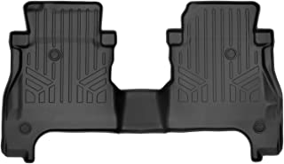 MAXLINER All Weather Custom Fit 2nd Row Black Floor Mat Liner Set Compatible With 2020-2021 Jeep Gladiator (ONLY Fits Models With Lockable Rear Underseat Storage Toolbox)