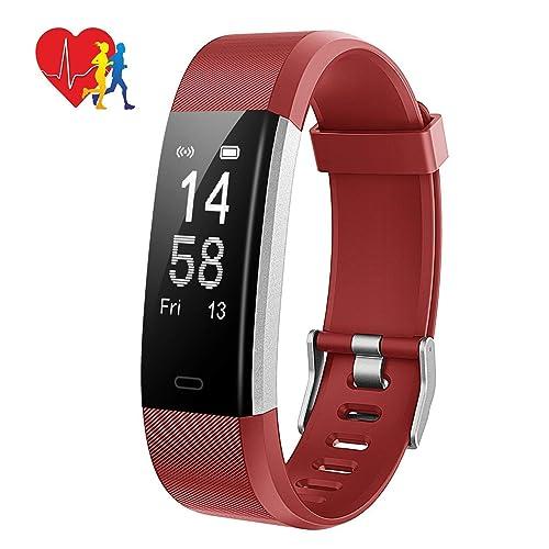 Mpow Bracelet Intelligent, Montre Connectée Sportif Électronique Étanche IP67, Fitness Tracker d'Activité Fréquence Cardiaque Moniteur Sommeil, GPS, Charge Rapide, Podomètre, Calories Anti-perdu