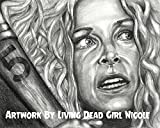 Portrait Drawing Art Print:'500 to 1' - Sheri Moon Zombie as Charly in Rob Zombie's 31