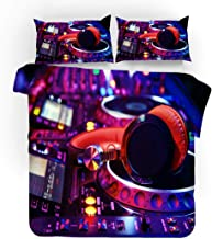 Earendel Fundas Nórdicas DJ De Música Juego De Ropa De Cama Rock Colcha 2/3/4PCS Fundas De Edredón Nórdico/Almohada/Sábanas,para Cama 90/135/150/180 (Cama 135/140(200×200cm)-3PCS,2)