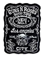 【ノーブランド品】アイロンワッペン  ロック バンド 音楽(バンド) ワッペン 刺繍ワッペン GUNS N ROSES アイロンで貼れるワッペン