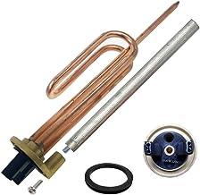 Resistencia curva termo eléctrico flange + Anodo magnesio + junta goma + Tornillo fijación. Kit recambio calentador de agu...
