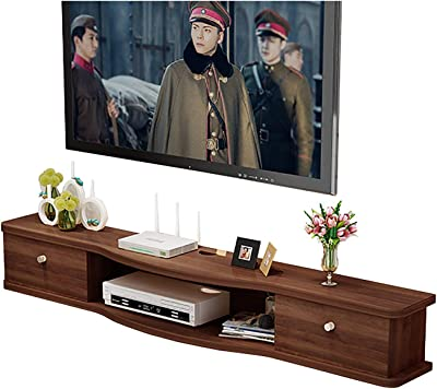 TV Cabinet, TV Lowboard, Floating Shelves, Wall Mounted Audio/Video Console, 100/120/140/160CM, Wall Mounted Media Console, Easy to Put Assemble. (Size : 160cm)