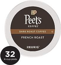 Peet's Coffee French Roast, Dark Roast, 32 Count Single Serve K-Cup Coffee Pods for Keurig Coffee Maker