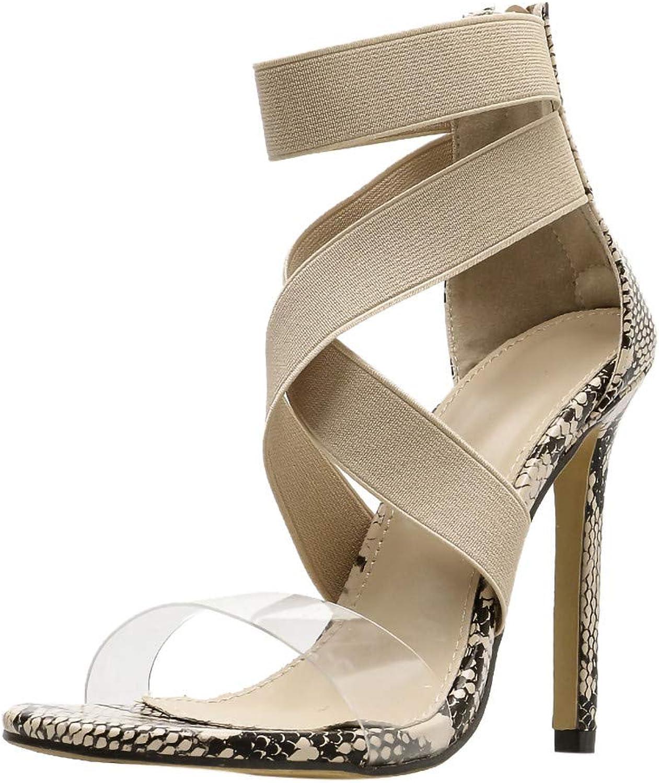 High heels sandals for women,Youngh Sexy Women Snake Skin Pattern Cross Strap Non-slip Pumps shoes High Heel Sandals