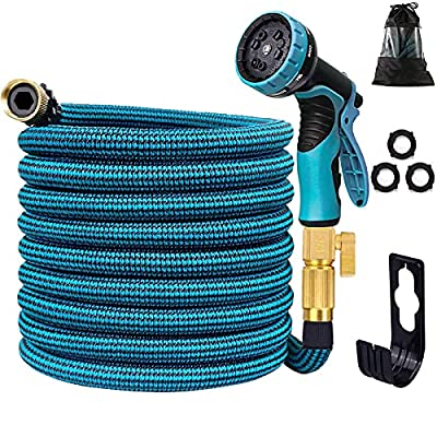 Amazon - 50% Off on Expandable Garden Hose 50FT, Expanding Water Hose with 10 Function Nozzle