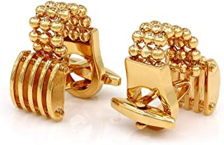 Chain Link Cufflinks Gold Tone Jewelry for Men
