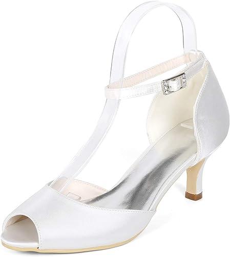 L@YC Femmes Chaussures De Mariée Boucle Peep Toe 35-43 Robe De Soirée à Talons Hauts Talon Aiguille   6cm