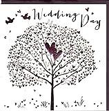 Belly Button Designs Glückwunschkarte zur Hochzeit mit Kristallen, Prägung und farbiger Folienauflage. BB351