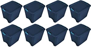 Sterilite 26 Gallon Latch and Carry Storage Tote (8 Pack)