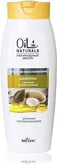 Bielita & Vitex Oil Naturals Line | Strengthening & Restoring Shampoo for Thin Hair, 430 ml | Argan Oil, Silk Proteins, Jojoba Oil, Vitamins