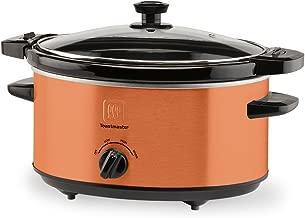 Toastmaster TM-402SCCP Slow Cooker, 4 Quart, Copper
