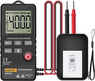 HELYZQ Multímetro digital 4000 contagens True Rms testador de voltímetro CC/CA NCV Ohm carro de teste