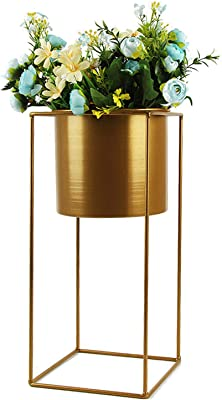 Green & raro supporto per vaso da fiori in stile nordico, moderno geometrico base quadrata in ferro per piante grasse, espositore per ufficio, scrivania, casa, giardino