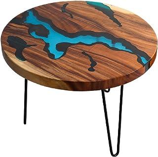 GZQDX Élégant Pied de Table en épingle à Cheveux Table de Style Nordique Base de rivière Salon café Table à Manger en Bois...