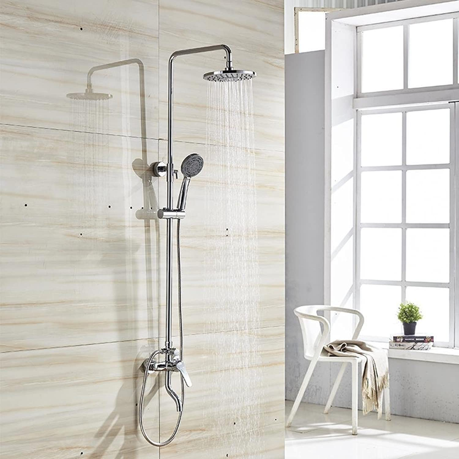 MAFYU Shower Systems All Copper Body Holding Shower Set