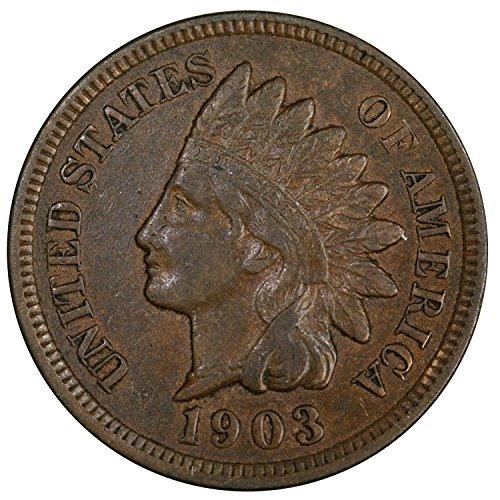 1903 U.S. Indian Head Cent Full LIBERTY Full Rim 1c Fine to XF