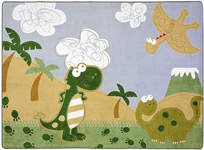 "Joy Carpets Kid Essentials Infants & Toddlers Dino Fun Rug, Multicolored, 3'10"" x 5'4"""