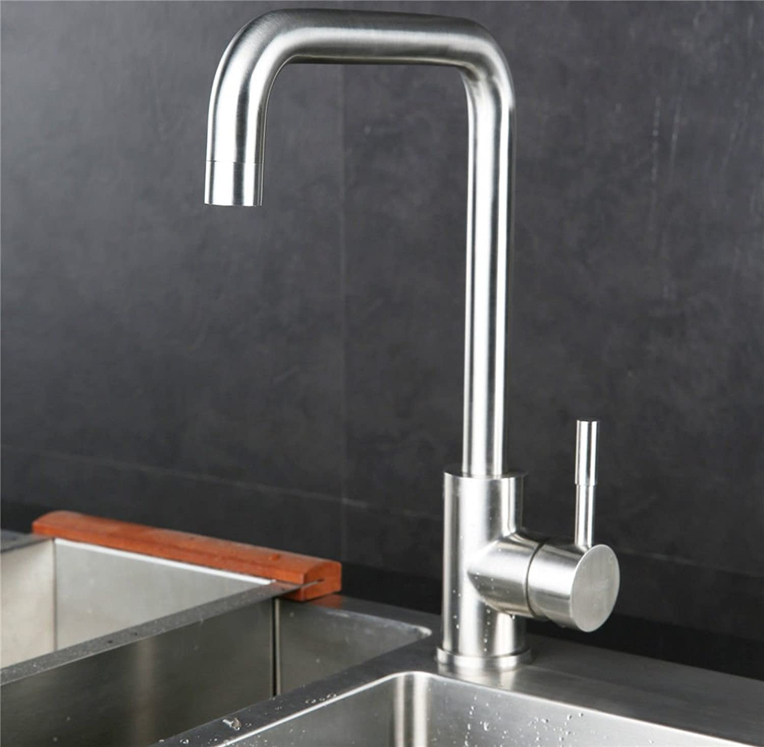 Commercial Single Lever Pull Down Kitchen Sink Faucet Brass Constructed Polished Kaiping Faucet Mixer Faucet 304 Stainless Steel Hot and Cold Water Faucet Kitchen Quick Opening Faucet