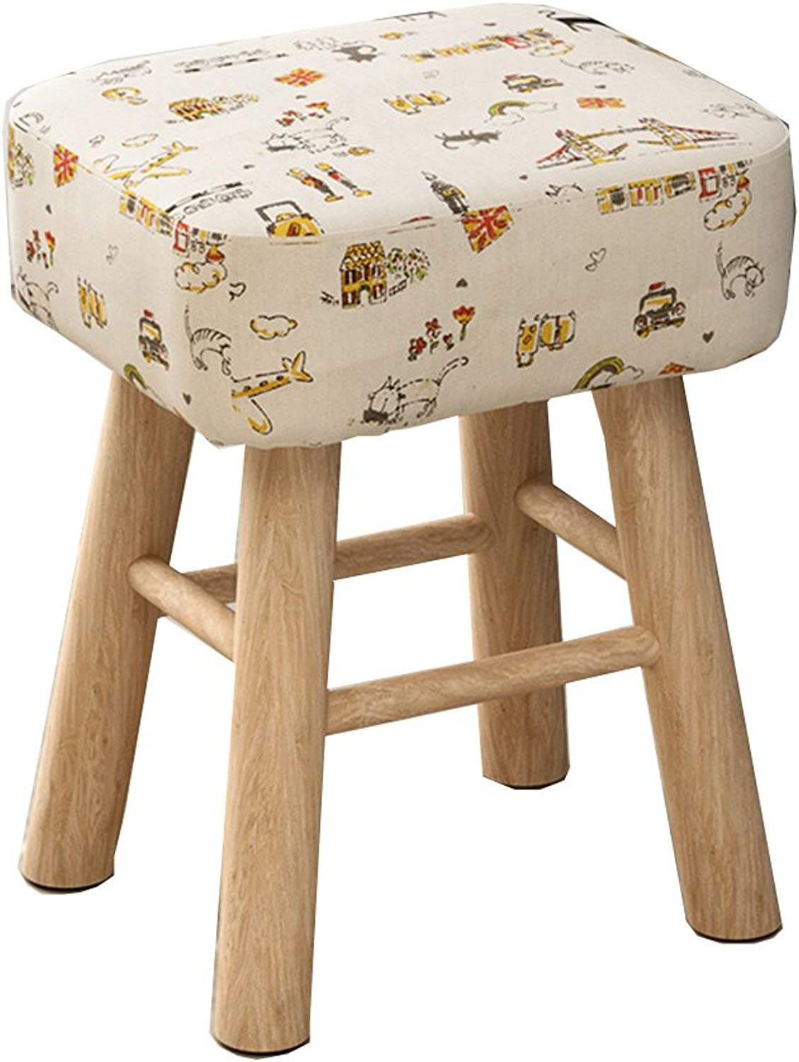 Stools Fabric Fashion Table Chair Stools Solid Wood Computer Stool Multifunction Stool 35  30  43cm
